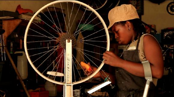 African Village Bicycle Mechanic